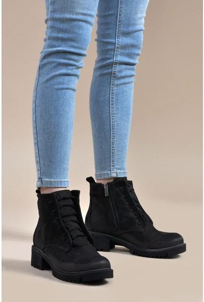 Vizon Ayakkabı Kadın Siyah Bot VZN19-058K