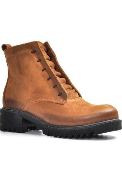 Vizon Ayakkabı Kadın Taba Bot VZN19-058K