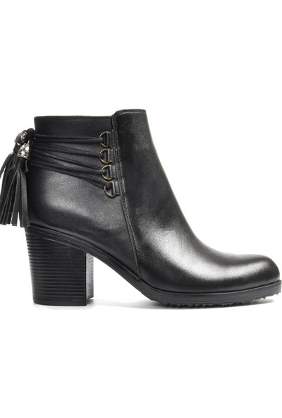 Vizon Ayakkabı Kadın Siyah Bot VZN19-061K