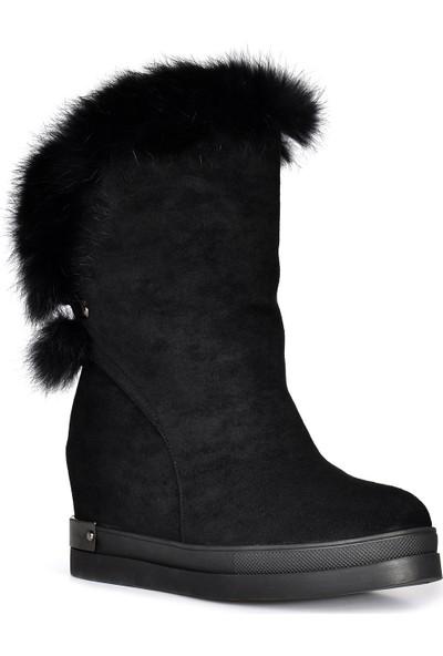 Vizon Ayakkabı Kadın Siyah Bot VZN19-086K