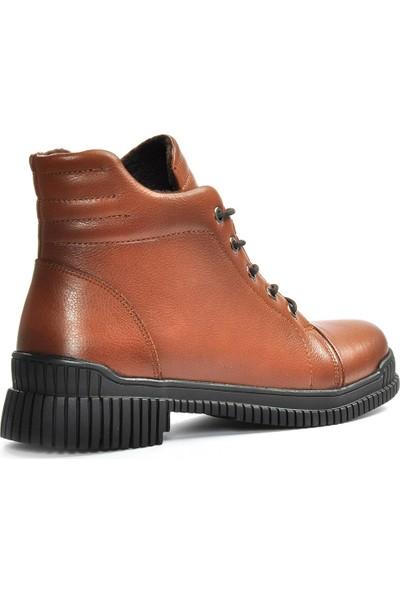 Vizon Ayakkabı Kadın Taba-Cilt Bot VZN19-042K