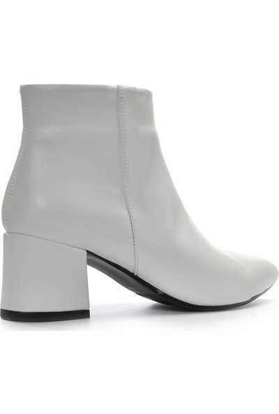 Vizon Ayakkabı Kadın Beyaz-Cilt Bot VZN19-067K
