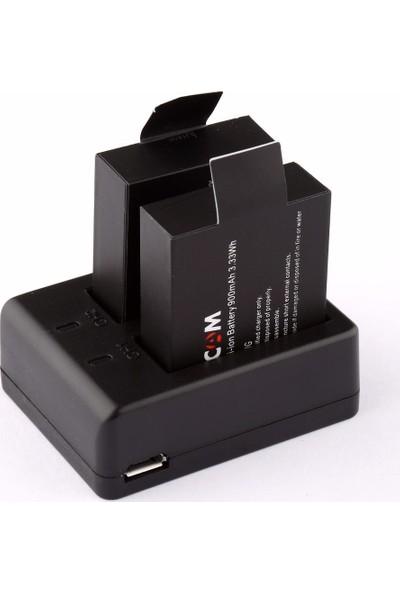 Sjcam SJ4000 SJ5000 M10 Iki Batarya ve Şarj Cihazı