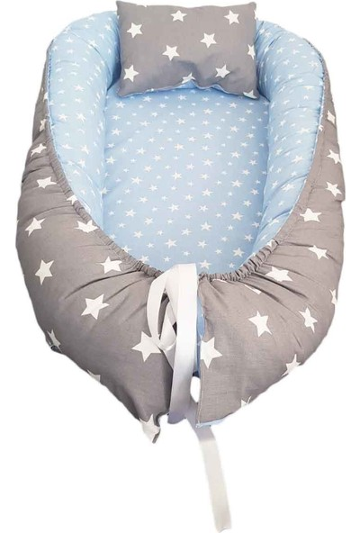 Amazingo Babynest Organik Pamuk Yıkanabilir Bebek Uyku Yatağı