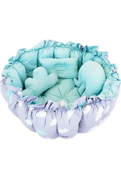 Amazingo Babynest Organik Pamuk Bebek Uyku Yatağı Oyun Minderi