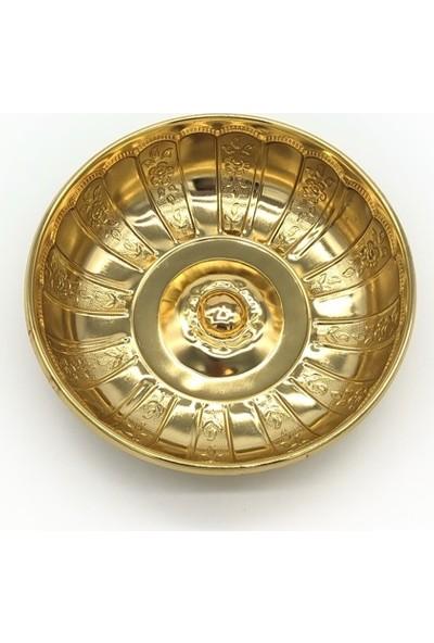 Kashni Otantik Osmanlı Motifli Hamam Tası - Altın Sarısı