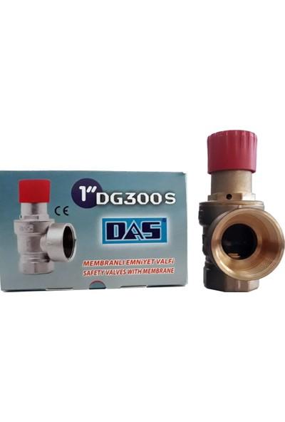 "Das DG300S 3 Bar Diyaframlı Membranlı Emniyet Ventili 1""-Süper Serisi Kırmızı Kapak"