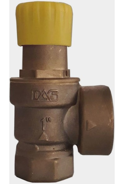 "Das DG300 3 Bar Diyaframlı Membranlı Emniyet Ventili 1""-Ht Serisi Sarı Kapak"