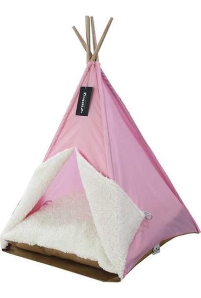 Bedspet Kedi Çadırı Pembe Büyük Boy