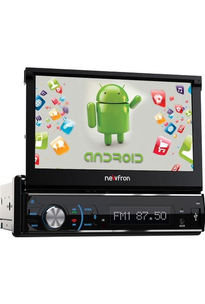 "Newfron NF-U1A 7"" Indash Usb Bluetooth Android Google Play Oto Teyp"
