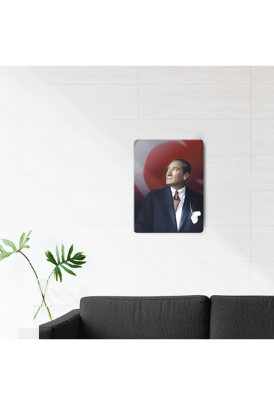 Decorita Mustafa Kemal Atatürk Cam Tablo 30 x 40 cm