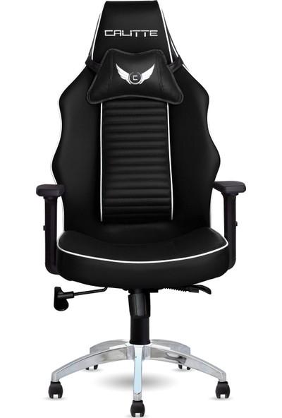 Calitte | Harley VIP CX | Profesyonel Oyuncu Koltuğu | Siyah-Beyaz