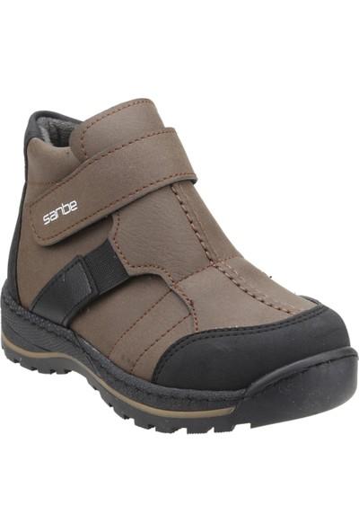 Sanbe 112P1201 Kışlık Anatomik Cırtlı Erkek Çocuk Bot Ayakkabı Taba