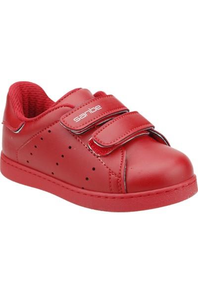 Sanbe 129P5401 Günlük Cırtlı Erkek Çocuk Spor Ayakkabı Kirmizi