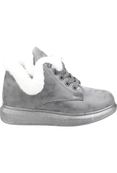 Vicco 946.19K.251 Termal Astarlı Kız Çocuk Bot Ayakkabı Füme