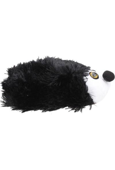 Karabulut H010 Hayvan Figürlü Peluş Kız Çocuk Panduf Siyah