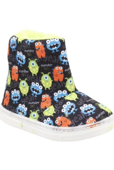 Sanbe 105P 030 Okul Kreş Kız/Erkek Çocuk Panduf Ayakkabı Siyah