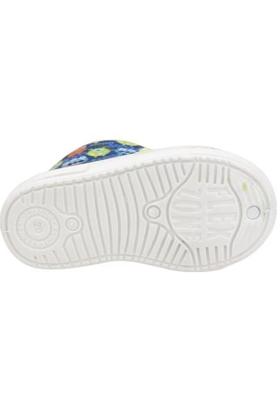 Sanbe 105P 030 Okul Kreş Kız/Erkek Çocuk Panduf Ayakkabı Saks
