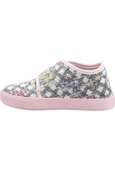 Sanbe 106P125 Okul Kreş Kız Çocuk Keten Panduf Ayakkabı Pembe