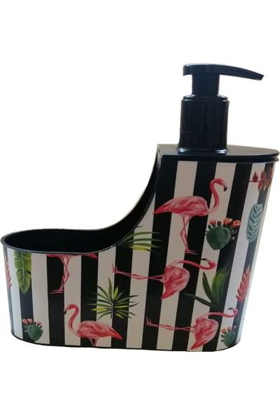 Herevin Flamingo Desenli Sıvı Sabunluk