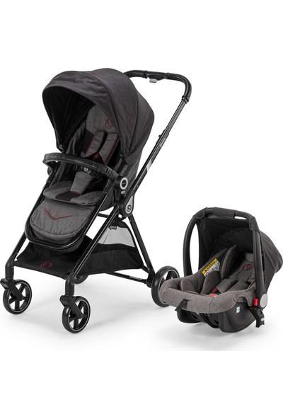 Elele Smart Eco Travel Sistem Bebek Arabası Gri - Siyah