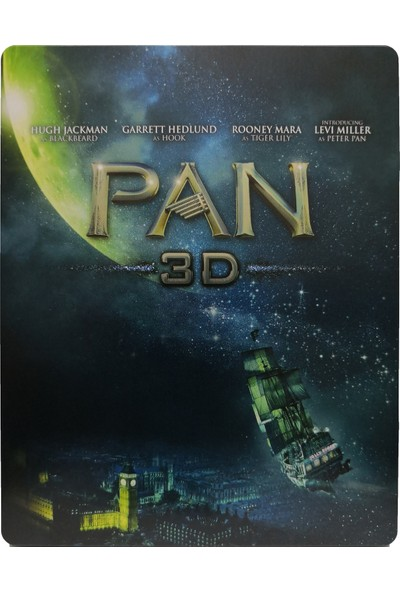 Pan - 2 Disk - 3D + 2d Bluray Limited Edition Steelbook