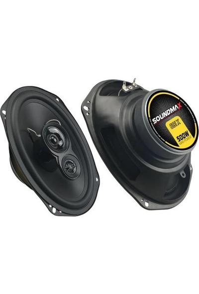 "Soundmax Akbaş SX-691X Oval Hoparlör 6x9"" Maksimum Güç: 500W 2'li Takım"