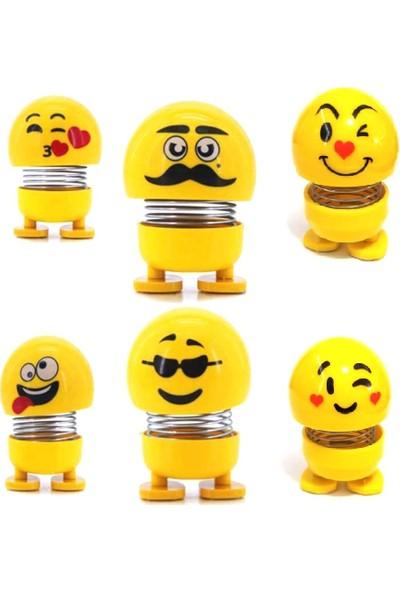 Çılgın Kafalar Zıp Zıp 6'lı Set Sevimli Kafa Sallayan Emojiler