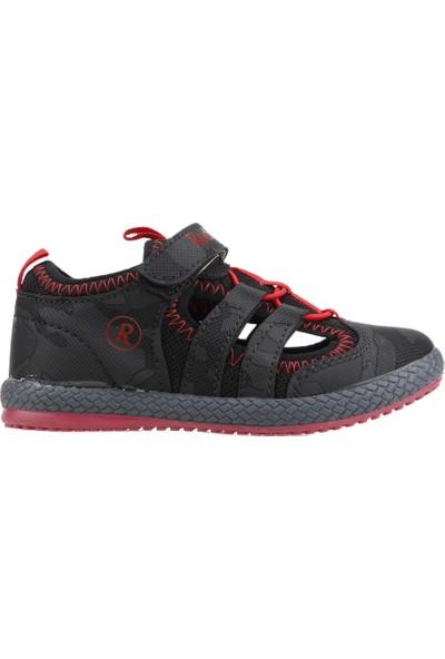 Kiko Kids Rocky Günlük Yürüyüş Koşu Erkek Çocuk Spor Ayakkabı Siyah