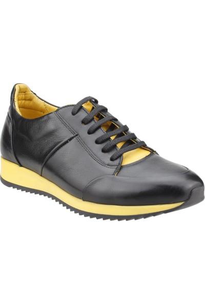 Epaş 10460 M Günlük Deri Günlük Erkek Spor Ayakkabı Siyah-Sarı