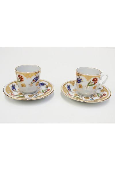 Hayal Sepetim Altın Yaldızlı 12 Parça 6 Kişilik Porselen Çay Takımı