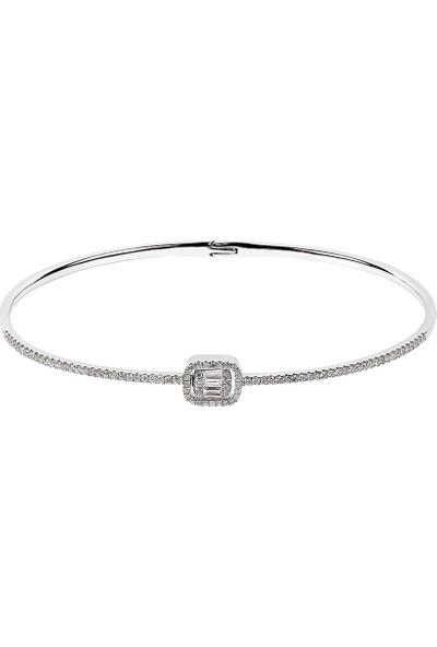 Clavis Jewelry Bagetli Pırlanta Bilezik 14 Ayar