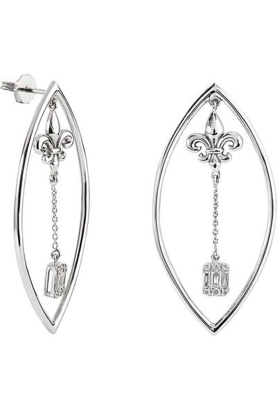 Clavis Jewelry Bagetli Tasarım Küpe 8 Ayar