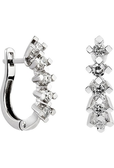 Clavis Jewelry Beştaş Pırlanta Küpe 14 Ayar
