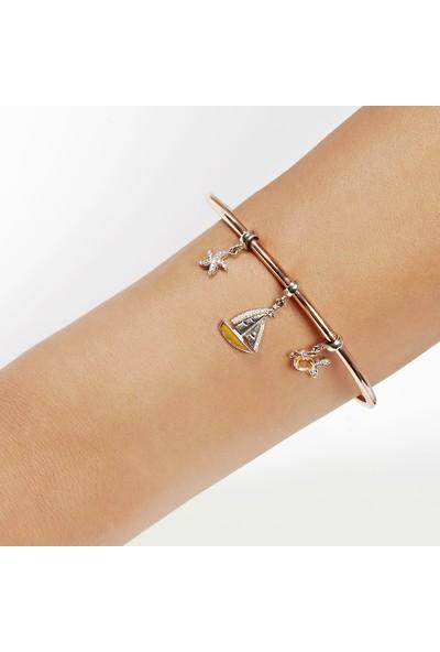 Clavis Jewelry Charmlı Bileklik 8 Ayar