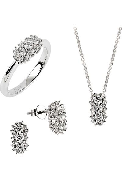 Clavis Jewelry Fantezi Pırlanta Küpe 18 Ayar