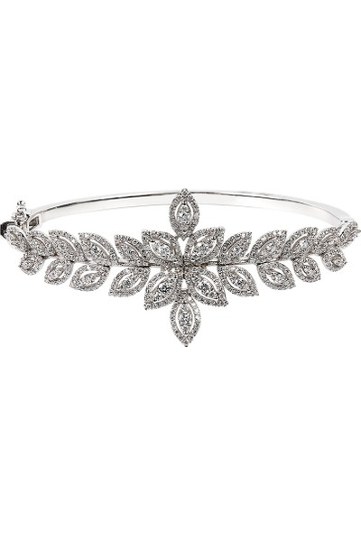 Clavis Jewelry Markiz Görünümlü Pırlanta Bilezik 18 Ayar