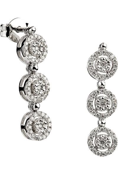 Clavis Jewelry Pırlantalı Fantezi Küpe 14 Ayar