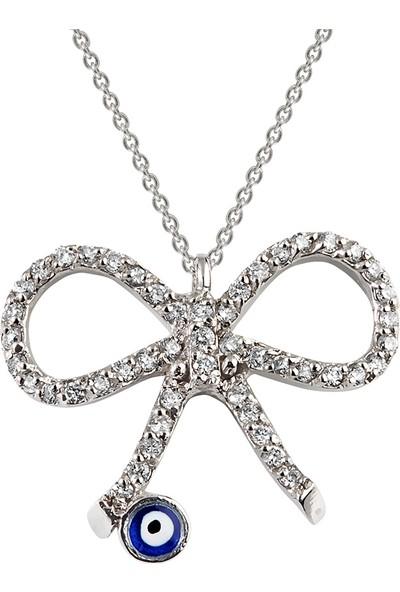 Clavis Jewelry Pırlantalı Fiyonk Kolye 18 Ayar