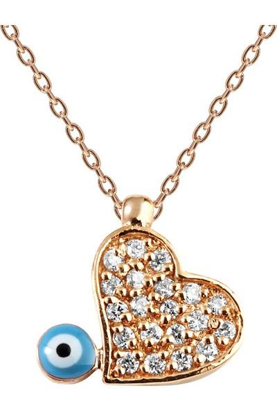 Clavis Jewelry Pırlantalı Kalp Kolye 14 Ayar