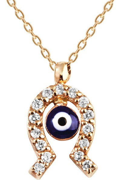 Clavis Jewelry Pırlantalı Nal Kolye 14 Ayar