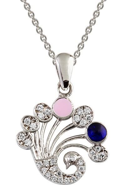 Clavis Jewelry Pırlantalı Tavus Kuşu Kolye 8 Ayar