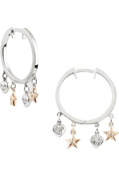 Clavis Jewelry Sallantılı Pırlanta Halka Küpe 8 Ayar