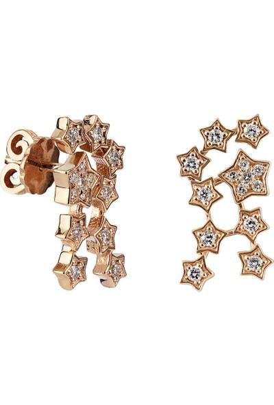 Clavis Jewelry Yıldız Pırlanta Küpe 14 Ayar