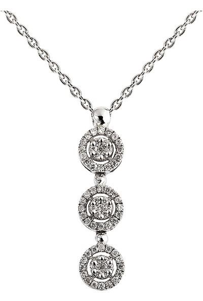 Clavis Jewelry Yuvarlak Formda Pırlanta Kolye 14 Ayar