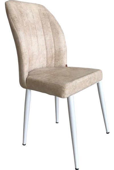 Armens Kare Gold Mutfak - Bahçe Cafe - Restorant Sandalyesi (Beyaz Ayak)