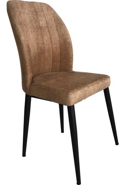 Armens Kare Gold Mutfak - Bahçe Cafe - Restorant Sandalyesi (Siyah Ayak)