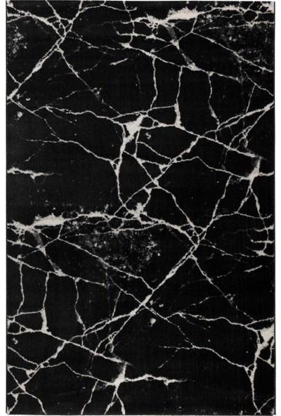 Hepsi Home Nazlı Siyah Beyaz Halı 07172A 80 X 150 Cm