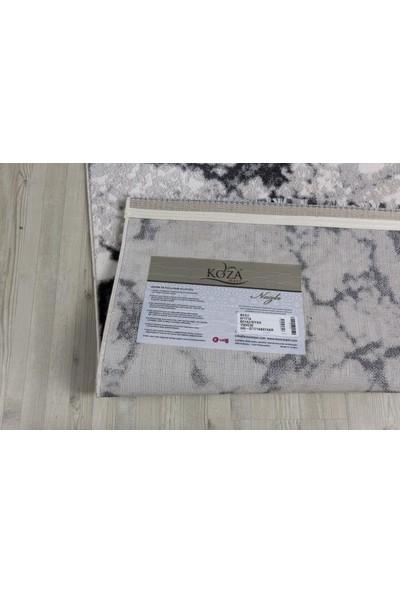 Hepsi Home Nazlı Beyaz Siyah Halı 07174A 80 X 150 Cm