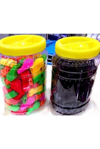 Marla Plastik Renkli Düdük 100 Lü 600-R - 100 Adet